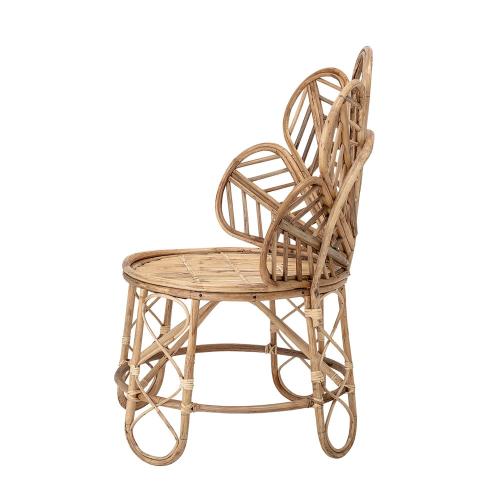Emmy Chair, L73 x H90 x W56 cm, Beige/ Natural