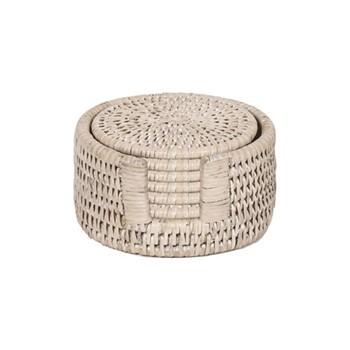 Set of 6 round coasters D12cm
