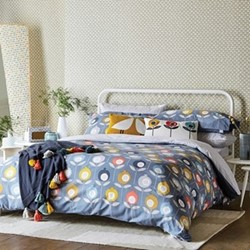 Pepino King size duvet cover, L220 x W230cm, ink