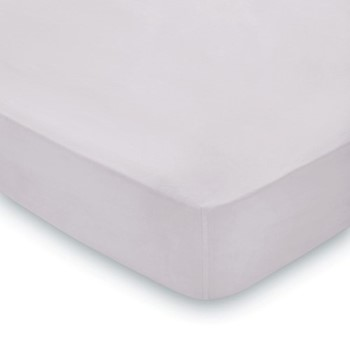 300 Thread Count Plain Dye King size fitted sheet, L200 x W150 x H36cm, amethyst