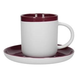 Barcelona Espresso cup and saucer, 130ml, plum