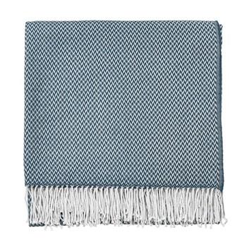 Paper Doves Throw, L170 x W130cm, denim/blue