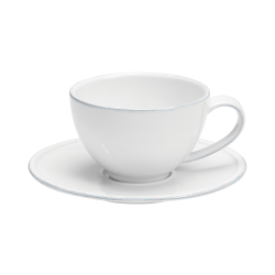 Friso Set of 6 teacups and saucers, White