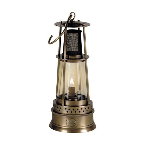 Miner's Table lamp, H25 x D10cm, Brass
