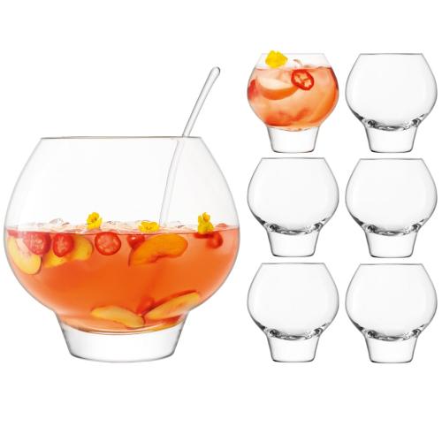 Rum Punchbowl set, clear