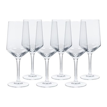 Set of 6 white wine glasses H22 x W8.5cm