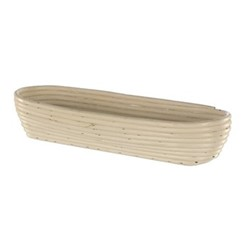 Oval long banneton basket, 40 x 16 x 7.5cm - 1.5kg, natural cane
