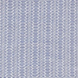 Fair Isle Woven cotton rug, W61 x L91cm, french blue/ivory