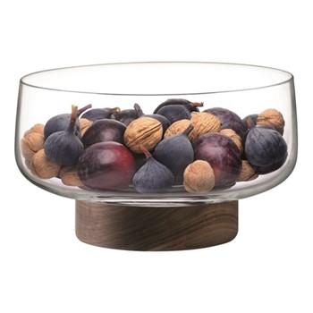 Bowl & walnut base D30cm