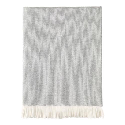 Merino throw, 190 x 140cm, Mist & White