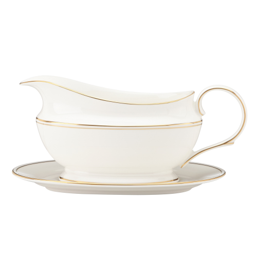 Federal Gold Sauce boat and stand