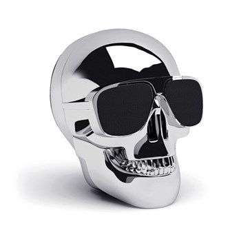 AeroSkull Nano Bluetooth speaker, H7.6 x W6 x D7.5cm, chrome silver