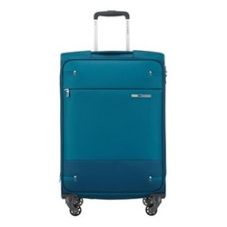 Base Boost Upright suitcase, 55 x 40 x 20cm, petrol blue stripes