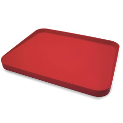 Cut & Carve Plus Multi-function chopping board, large, Red, Non-Slip