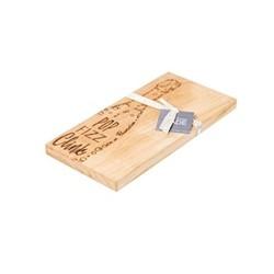 Pop Fizz Clink Small serving board, L30 x W15 x H2cm, oak