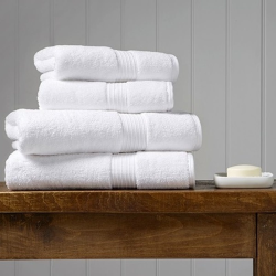 Supreme Hygro Pair of bath sheets, 90 x 165cm, White