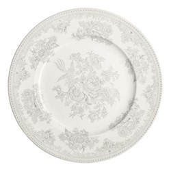 Dove Grey Asiatic Pheasants Side plate, 17.5cm, grey/white