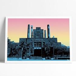 St.James' Gate Brewery-Guinness Framed print, L29 x H42cm, multi