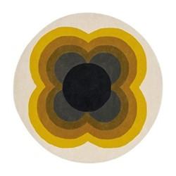 Sunflower Rug, Dia150cm, yellow