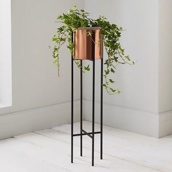 Small plant holder, L15 x W15 x D91cm, black
