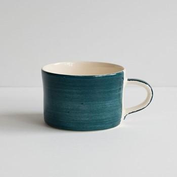 Plain Wash Set of 6 mugs, H7 x W10.5cm, teal