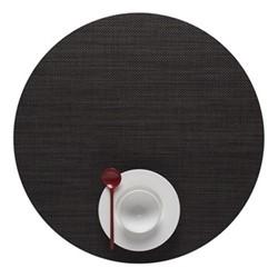 Mini Basketweave Set of 4 round placemats, 38cm, espresso