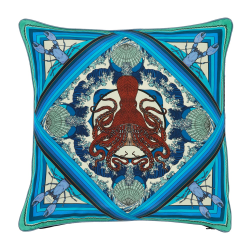 Octopussy Cushion, L45 x W45cm, Blue