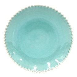 Pearl Set of 4 dinner plates, 28cm, aqua