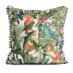 Parrots of Brasil Square cushion, L50 x W50cm, Multi