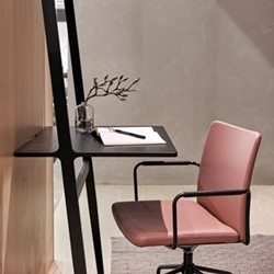 Libri Desk, W76 x D60 x H227cm, black ash
