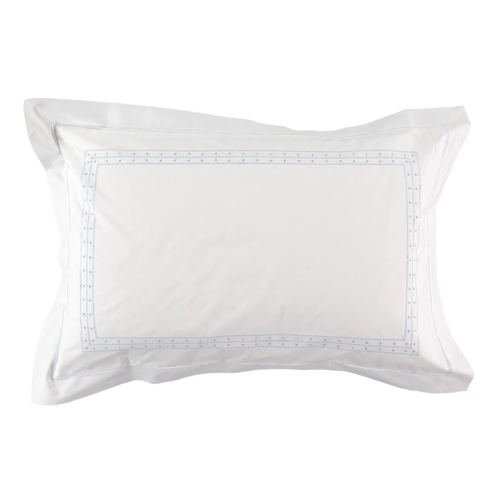 Matilda Oxford pillowcase, 50 x 75cm, Blue 200 Thread Count Cotton