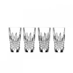 Lismore Diamond Set of 4 shot glasses, 10.5cm