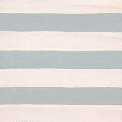 Catamaran Stripe Polypropylene indoor/outdoor rug, W259 x L335cm, light blue