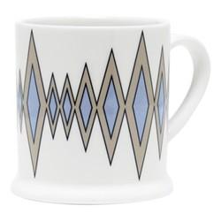 Diamond Espresso cup, 6.6 x 6.1cm, truffle/cornflower blue
