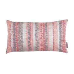 Textured Stripe Cushion, H30 x W50cm, oyster/storm