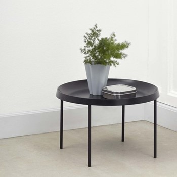 Tulou Coffee table, D55 x H35cm, black