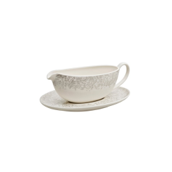 Monsoon - Filigree Sauce boat and stand, 48cl, silver