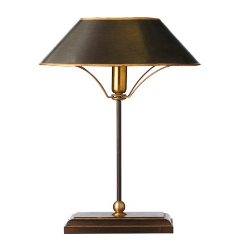 Grisewood Table lamp and shade, H42 x W31 x D20cm, brass and iron