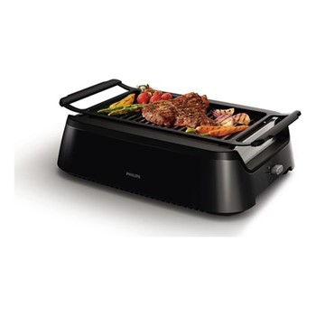 Hd6370/91 Smokeless family grill, black