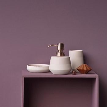 Opaco Soap dispenser, 10.5 x 13.6cm, sorbet