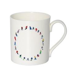 Alphabet - O Mug, H9.5 x W10.5 x D8.5cm - 35cl, multi