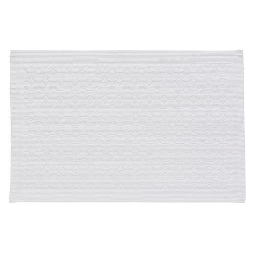 Stella Bath Mat, L90 x W50cm, White