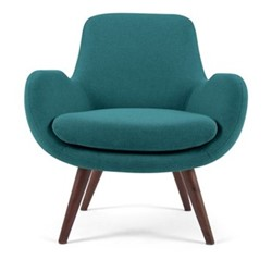 Moby Accent chair, W73 x H87 x D76cm, mineral blue