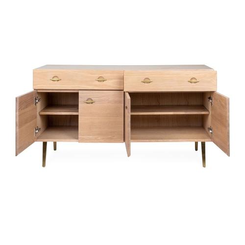 Crawford Large sideboard, H73 x  W135 x D42cm, Light Oak