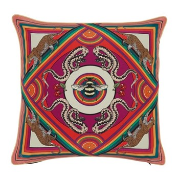 Trippy Town Cushion, L45 x W45cm, pink