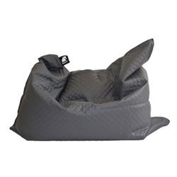 Jumbo - Quilted Beanbag, 175 x 135cm, smoke grey