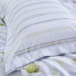 Arctic Poppy Oxford pillowcase, 50 x 75cm, white/green