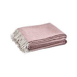 Cotswold Herringbone throw, L220 x W140cm, old rose