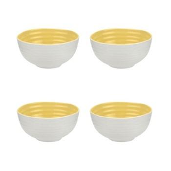 Colour Pop Set of 4 bowls, 14cm, sunshine
