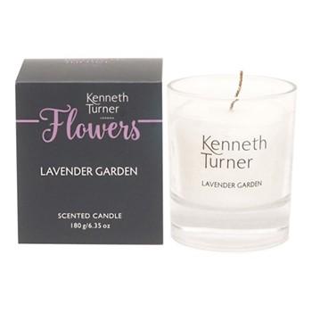 Lavender Garden Candle, white